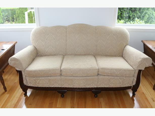 Antique Queen Anne Sofa And Chair New Upholstery Qualicum