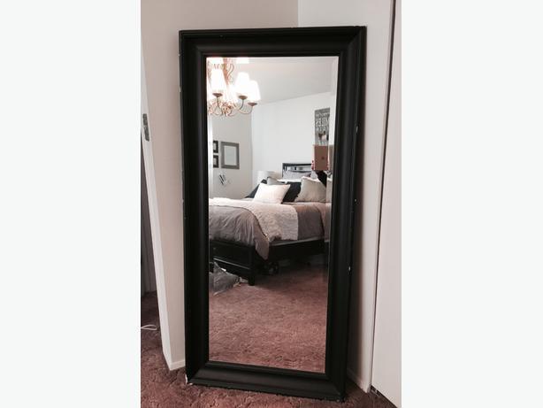 Large black framed mirror north saanich sidney victoria for Large black framed mirror