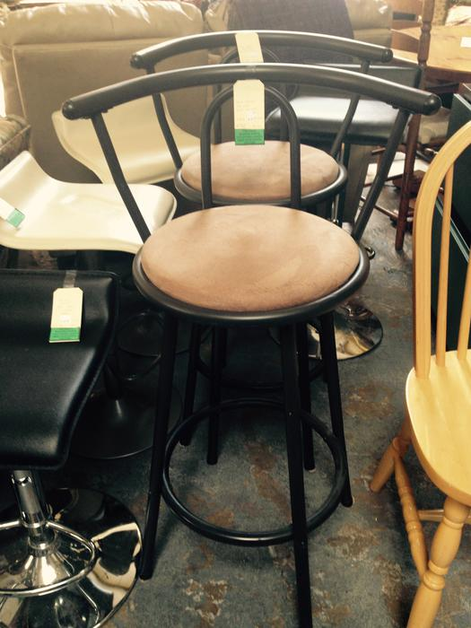 Win 748 Swivel Bar Stools With Back Metal Frame