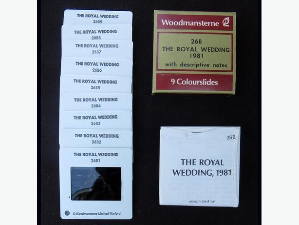 The Royal Wedding 1981 Charles & Diana Colour-slides