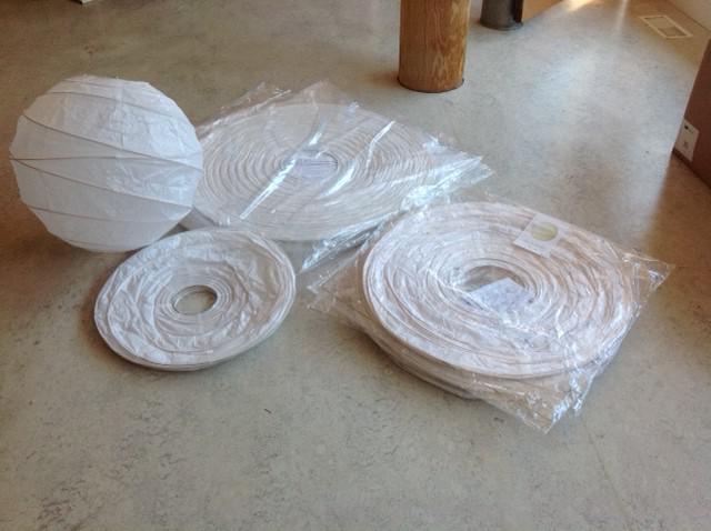 Japanese paper wedding party lanterns three sizes