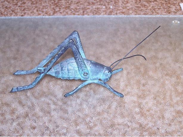 Vintage Gatco Solid Brass Grasshopper