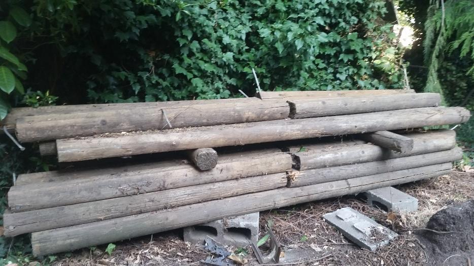 Landscaping Ties Nanaimo : Free used landscape ties west shore langford colwood metchosin