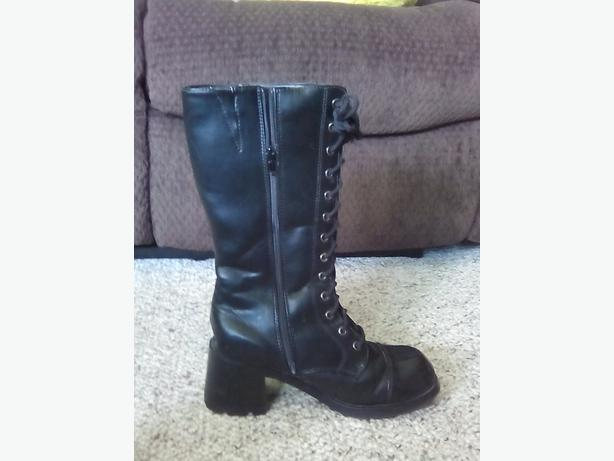 womens black boots with comfy heels east