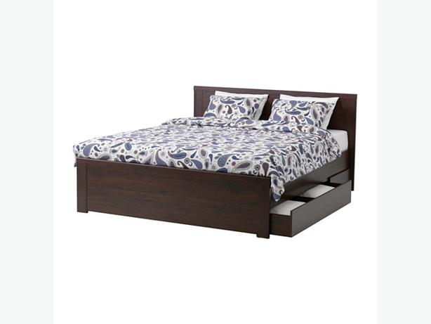 Wanted ikea bed frame with storage victoria city victoria for Used bed frame with storage