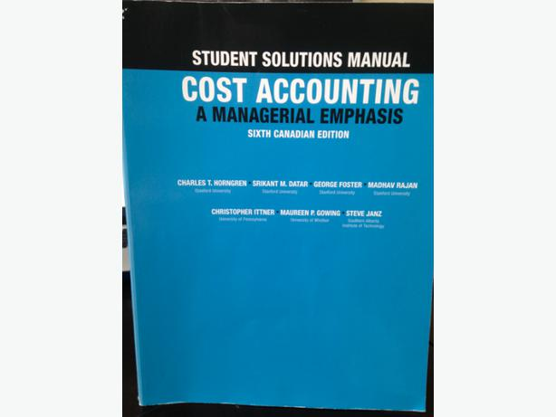 cost accounting solution manual pdf