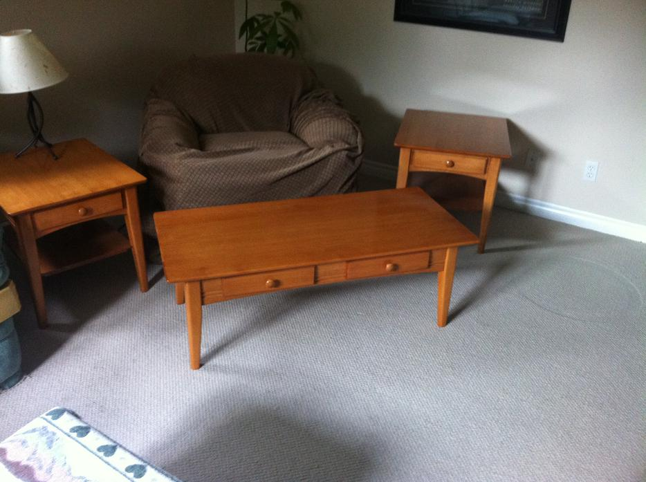 Coffee Table And End Tables Solid Maple Kanata Ottawa