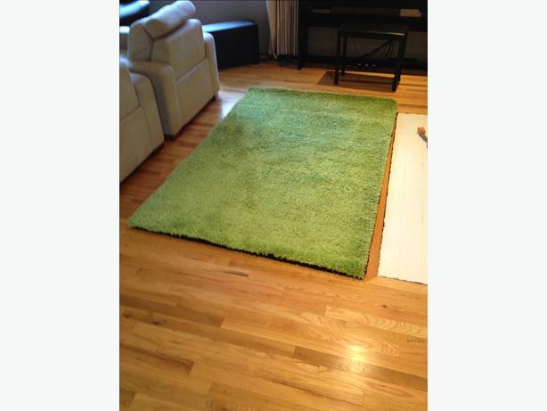 ikea green shag hampen rug 133cm x195cm saanich