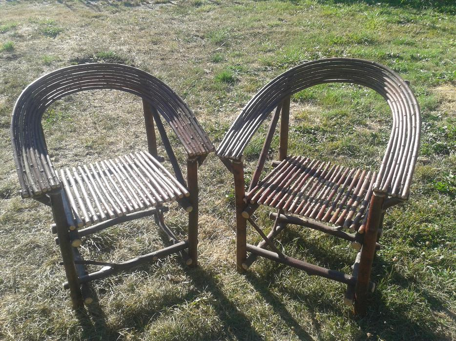 2 Bent Willow Chairs Cedar Nanaimo