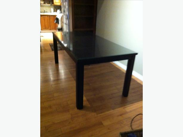 log in needed 200 8 10 person dining room table w glass top