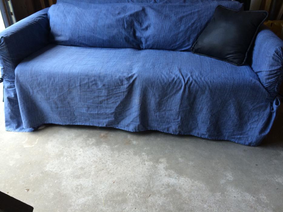 Divan lit double beige ou bleu double sofabed beigeor for Housse divan lit