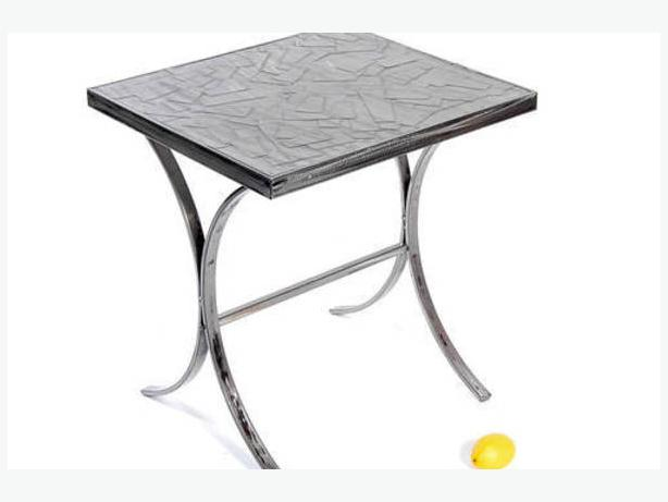 Two Modern Industrial Look Pressed Metal Tables Victoria City Victoria