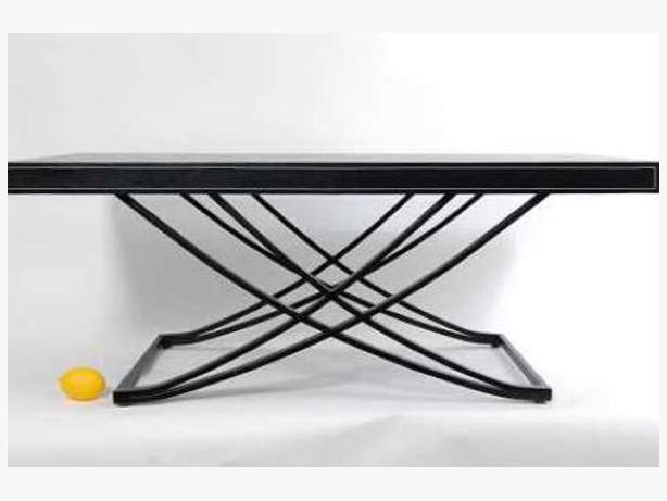 Black Leather White Stitch Coffee Table Victoria City Victoria