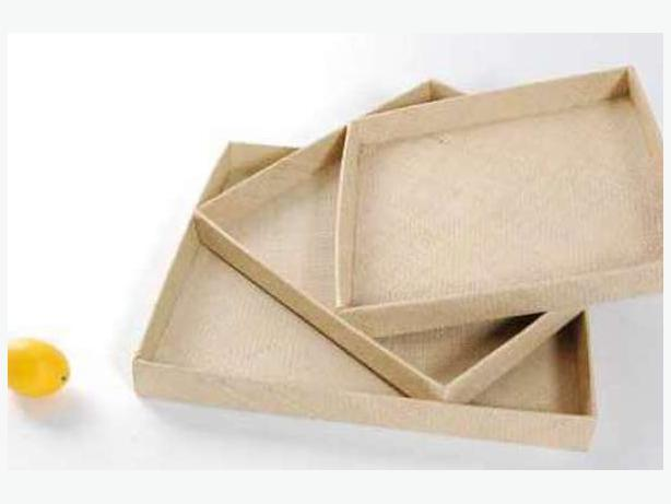 Set Of 3 Basket Weave Square Tray Victoria City Victoria