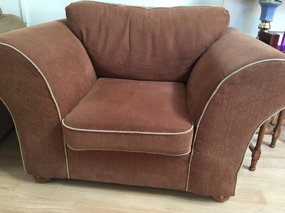 Oversized arm chair esquimalt view royal victoria for Large armchair