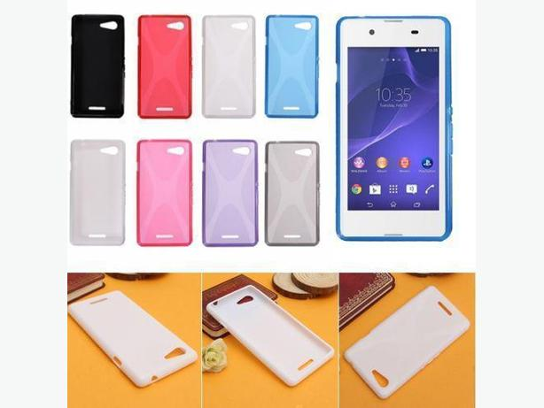 Soft TPU X-Line Wave Skin Case Cover for Sony Xperia E3