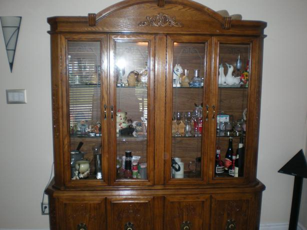 oak dining room sets with hutch image