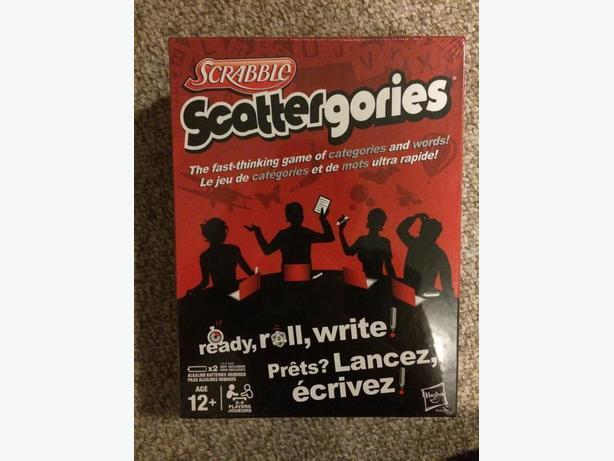 Scrabble Scattergories Game