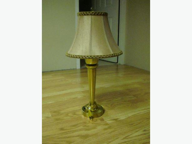 Like New Tall Gold Beige Lamp -$16