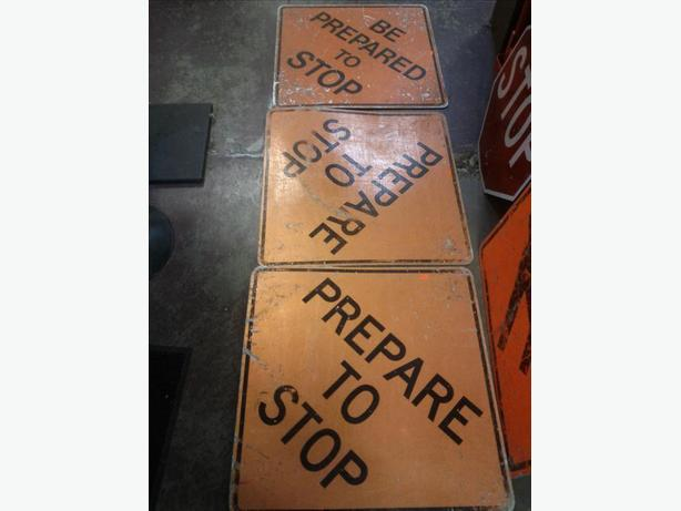 Old Construction Sign: Prepare To Stop