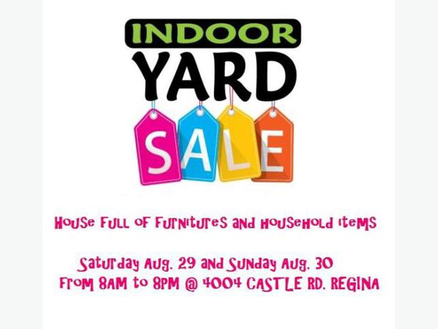 HUGE INDOOR SALE SATURDAY 29 and SUNDAY 30 AUGUST South  : 48745238614 from www.usedregina.com size 614 x 461 jpeg 29kB