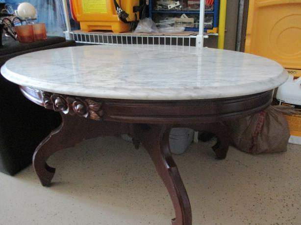 Solid marble coffee table kensington pei for Coffee tables 18 inches wide