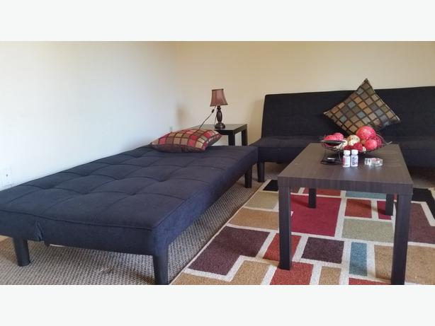 2 Confertable Black Sofa Bed Looks Like New We Dont Have