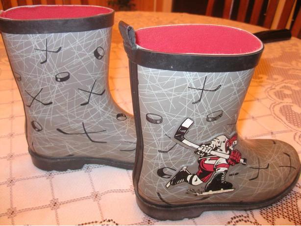 "Boys "" 47 Hockey"" rainboots - size 1"
