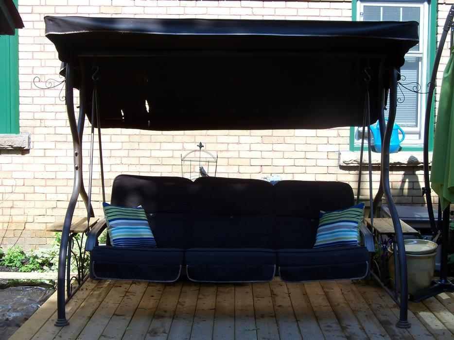 Costco large patio swing daybed with canopy can for 100 taunton terrace oshawa