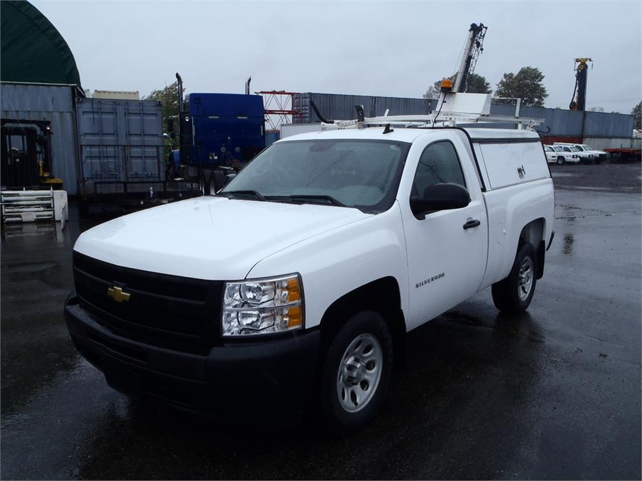 2011 chevrolet silverado 1500 work truck 2wd with service canopy and roof rack outside victoria. Black Bedroom Furniture Sets. Home Design Ideas