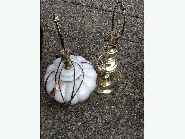 Price reduced - Two table lamps with no shades