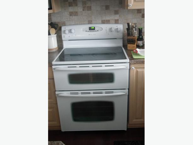 in needed 550 top line maytag glass top double oven electric range