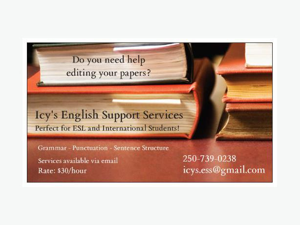 Editing and writing services victoria bc