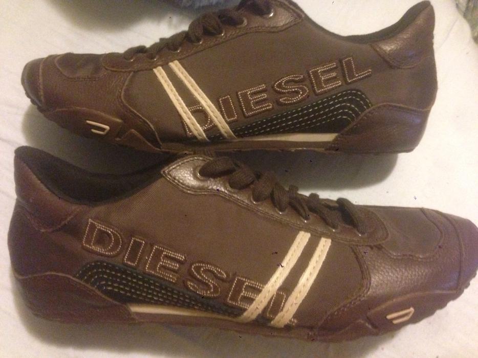 "NEW- Men's Genuine Brown Leather ""DIESEL"" Designer Casual Athletic Shoes 9.5 Esquimalt ..."