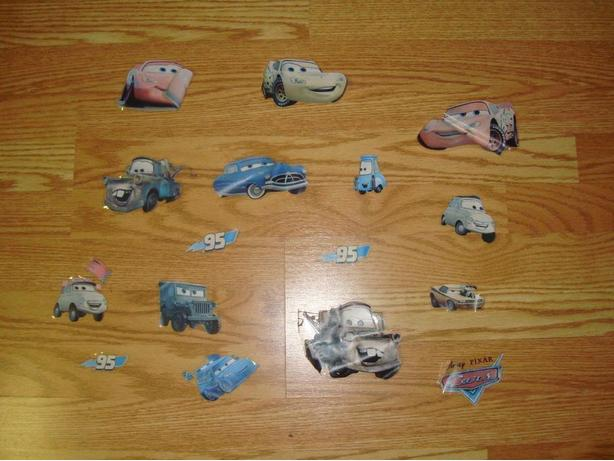 Like New Pixar Cars Window Stickers