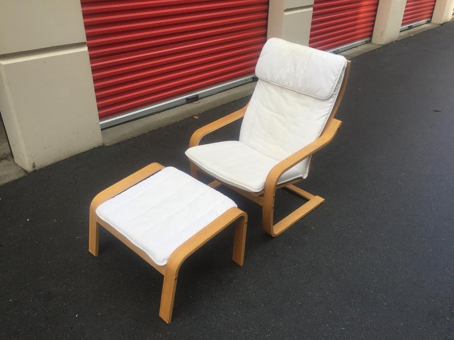 Ikea Poang Chair And Ottoman Esquimalt Amp View Royal Victoria