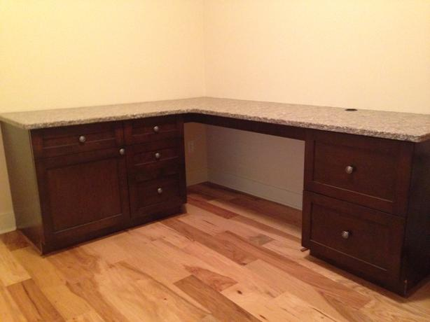 Countertop Desk : Real Granite countertop desk with office cabinets **$600.00 OBO ...