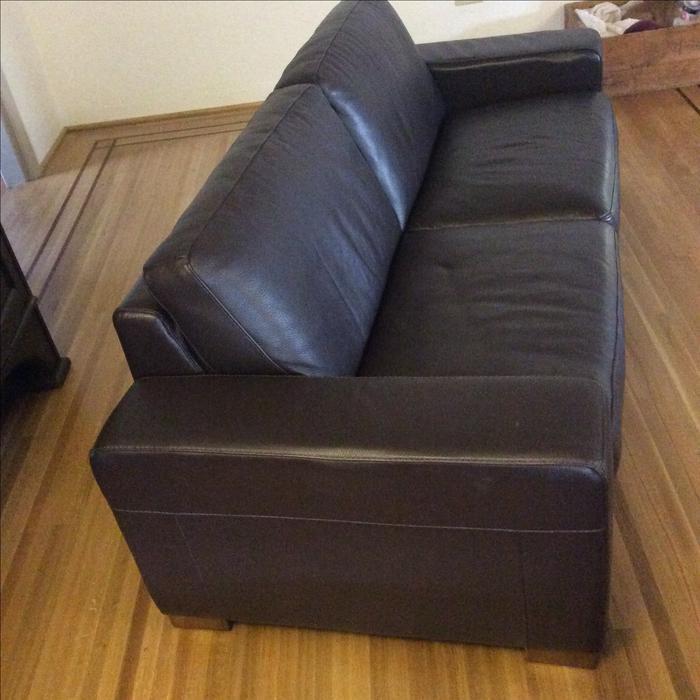 Italian Leather Sofa Edmonton: Like-new Natuzzi Castello Leather Sofa's Victoria City