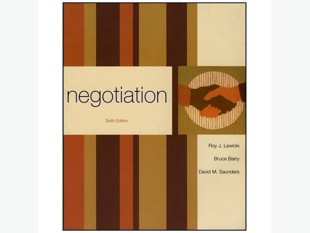 NEGOTIATION by Lewicki, Barry, Saunders (Sixth Edition)