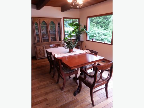 Antique Dining Room Table And Six Chairs China Cabinet Outside Victoria Vi