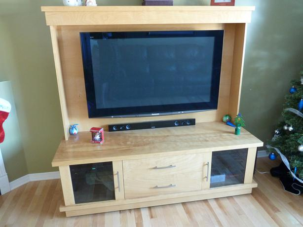 meuble pour tv en merisier aylmer sector quebec ottawa On meuble tv merisier