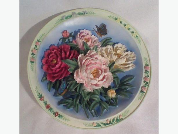 Lena Liu The Peony Garden 3D collector plate