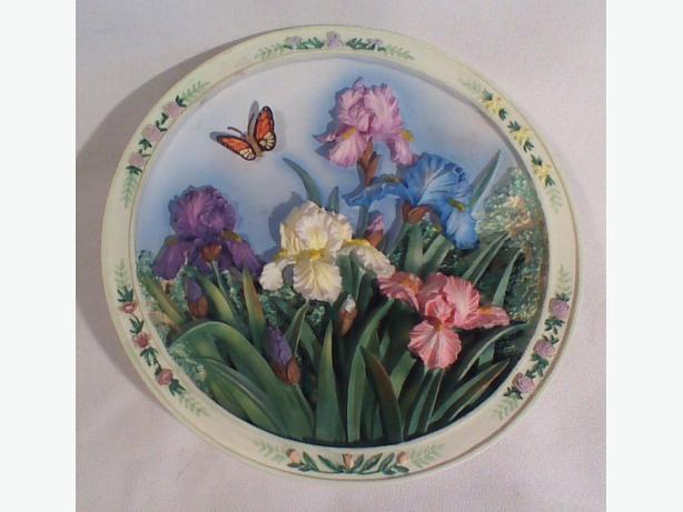 Lena Liu The Iris Garden 3D collector plate