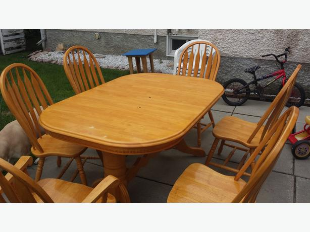 solid oak dining room table and chairs maples tyndall park north