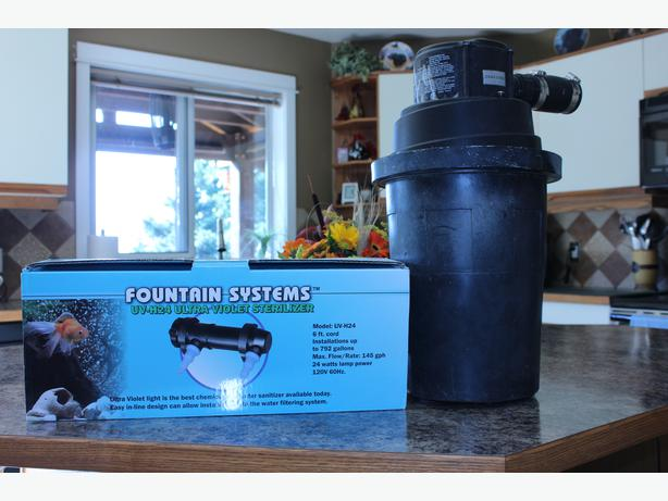 Uv light and filter for pond west shore langford colwood for Used pond filter for sale
