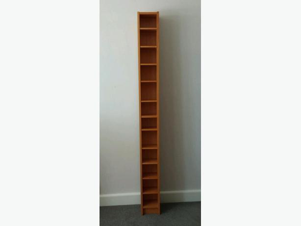 ikea cd dvd rack dark brown excellent condition nepean ottawa. Black Bedroom Furniture Sets. Home Design Ideas