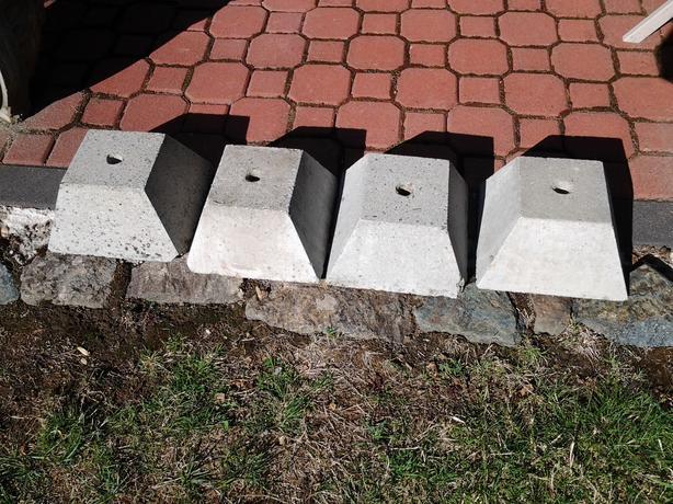 Concrete Block Post Base Saanich Victoria