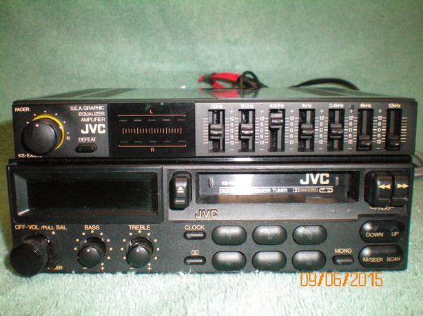 Jvc Car Stereo Cassette Receiver Amp Sea Graphic Equalizer