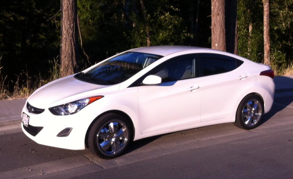 2011 Hyundai Elantra With 18 Quot Chrome Wheels West Shore