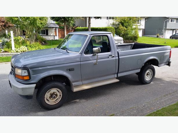 1995 ford f150 xl 4x4 regular cab pickup 1500 outside victoria victoria. Black Bedroom Furniture Sets. Home Design Ideas